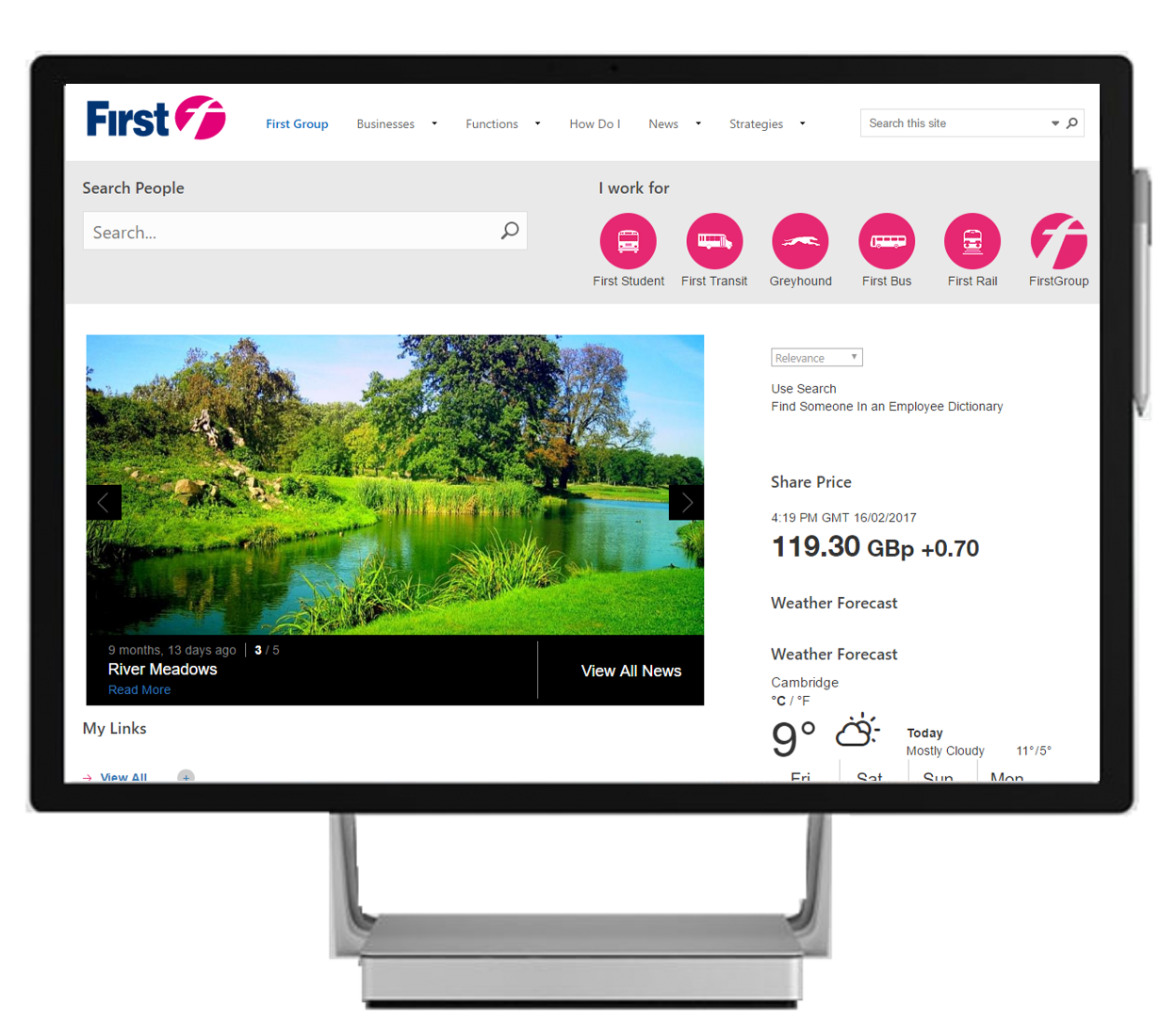 SharePoint Intranet HomePage