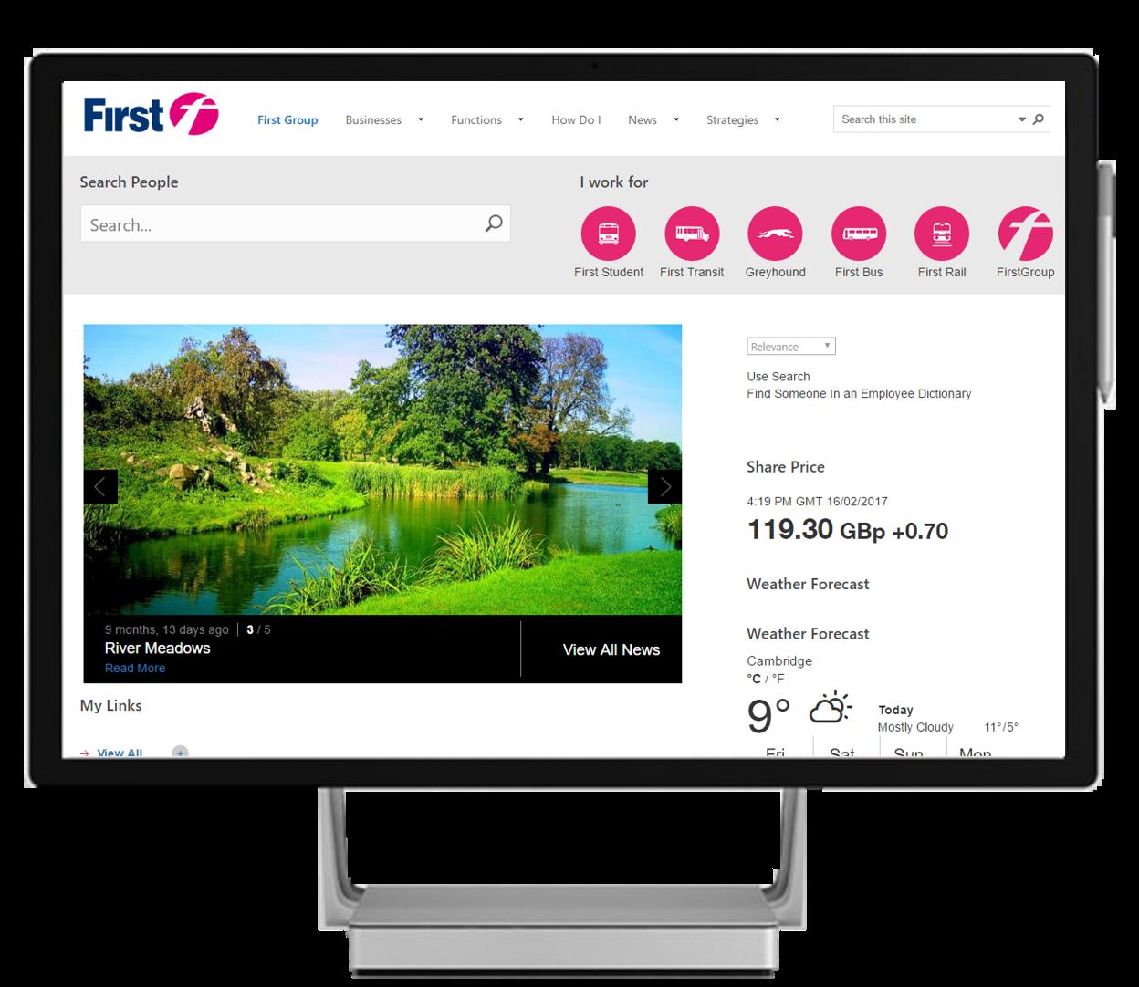 SharePoint Intranet HomePage